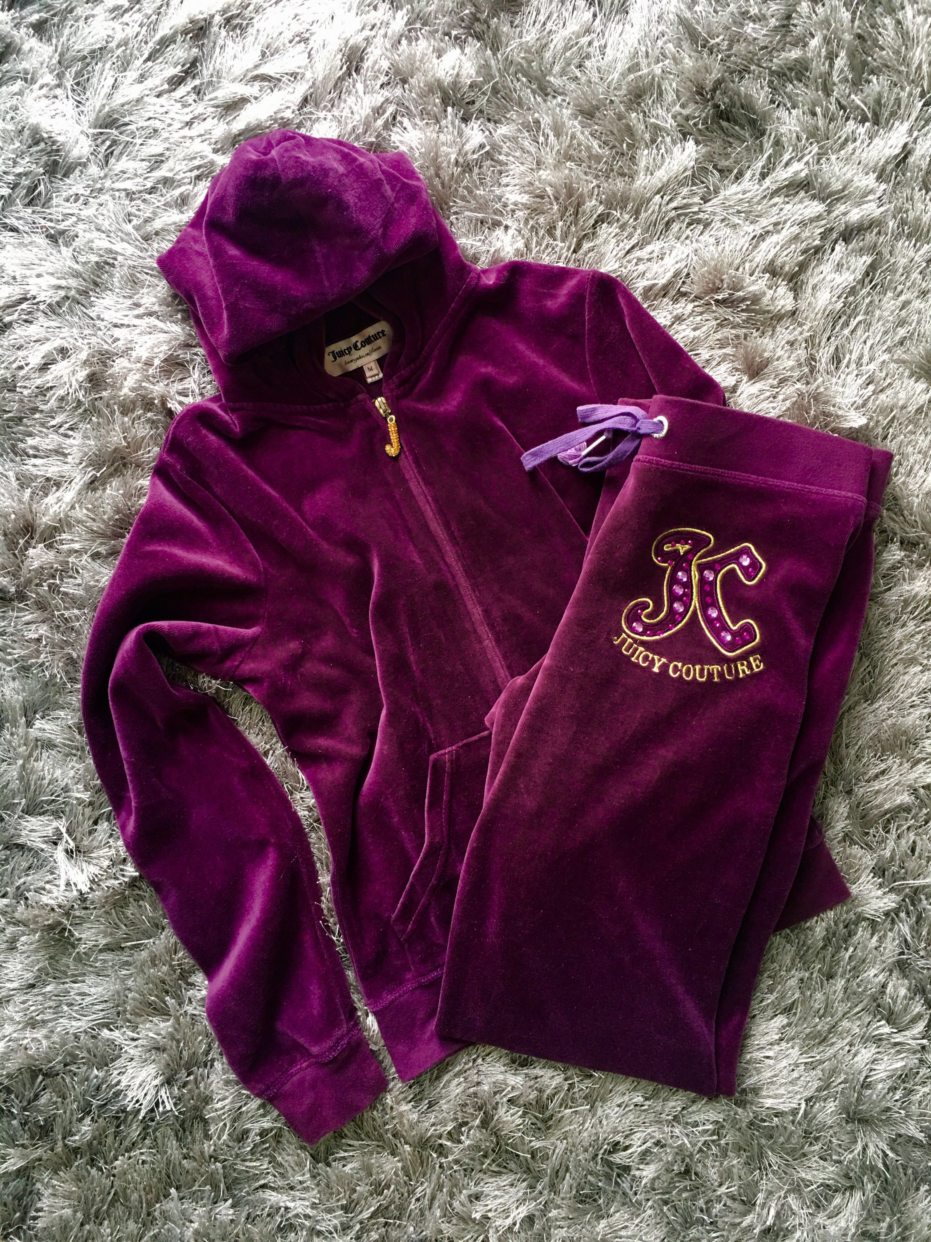 780a07a2a1b5 JUICY COUTURE Burgundy Track Jacket Hoodie