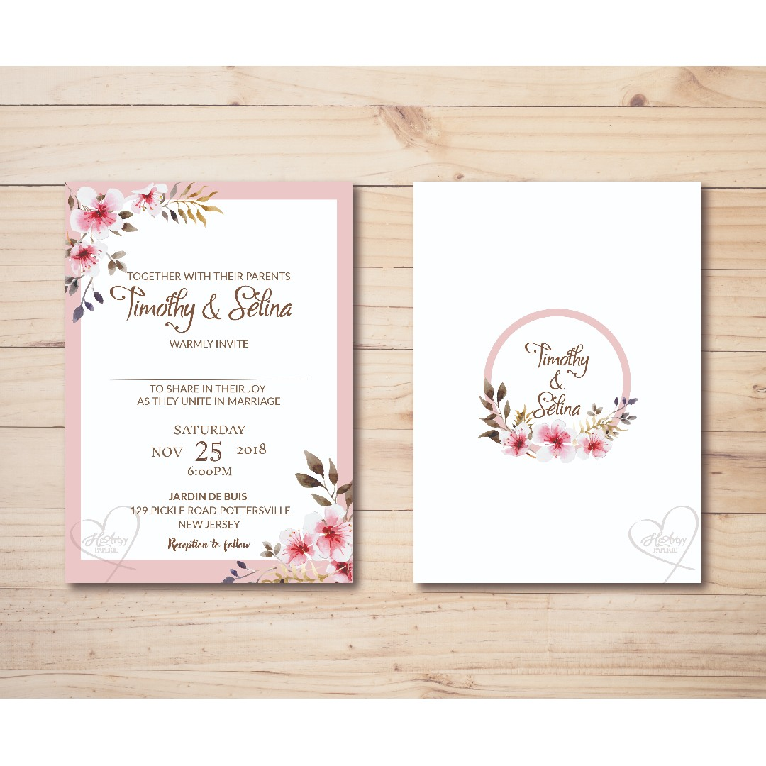 image about Wedding Cards Printable named Gentle Red Floral Wedding day Invitation Printable Template