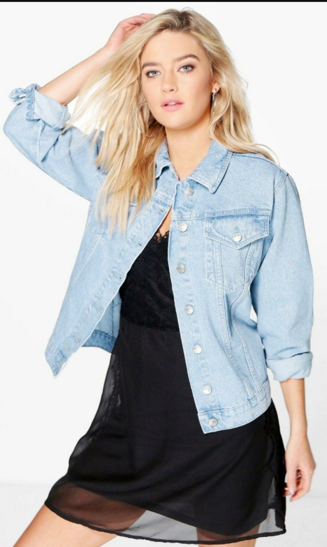 special discount buy online good Light washed soft denim jacket, Women's Fashion, Clothes ...