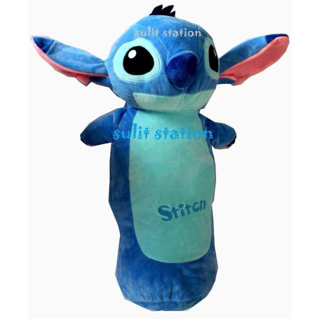 Lilo Stitch 3d Head Plush Hotdog Bolster Pillow Babies Kids Toys