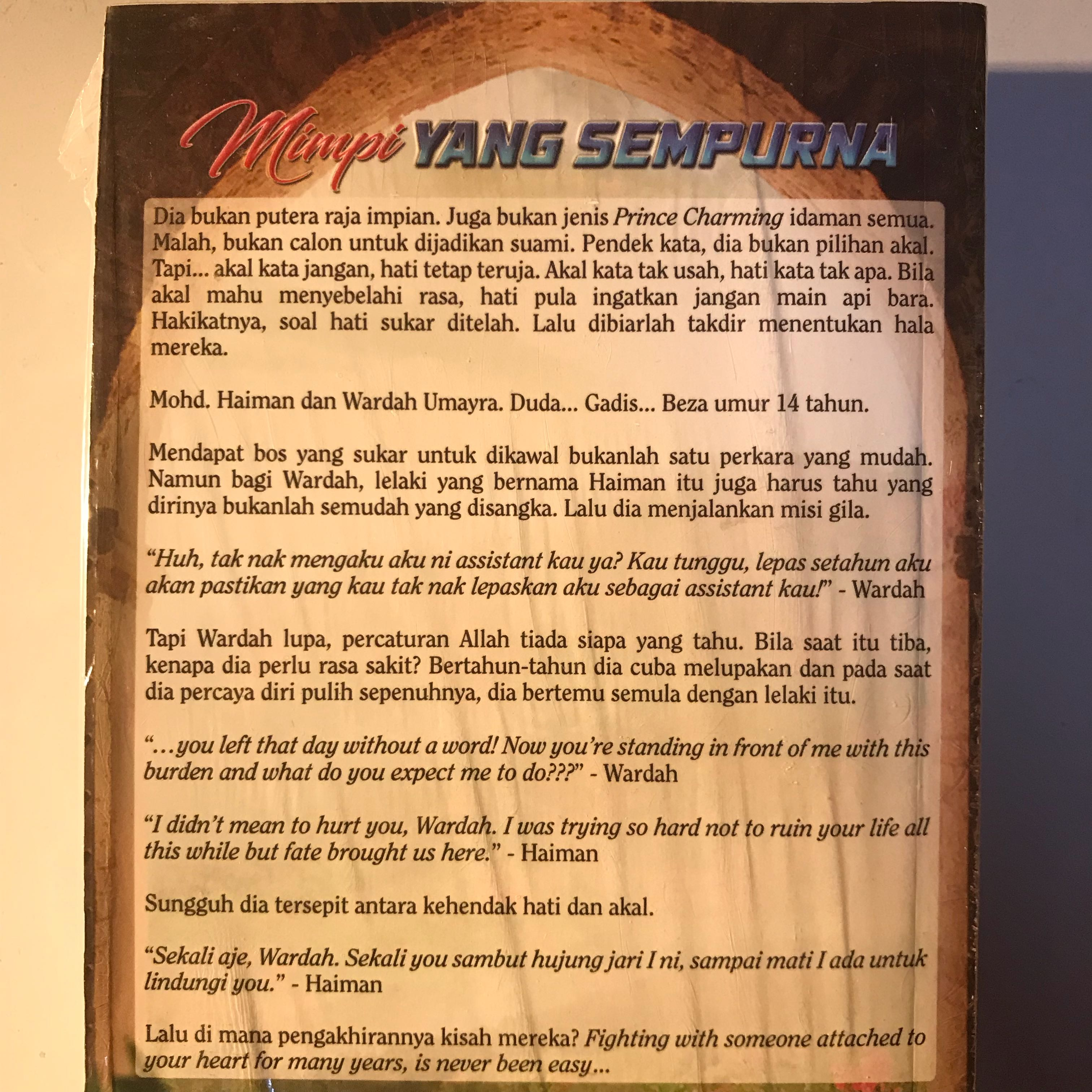 Malay Ovel Books Stationery Fiction On Carousell