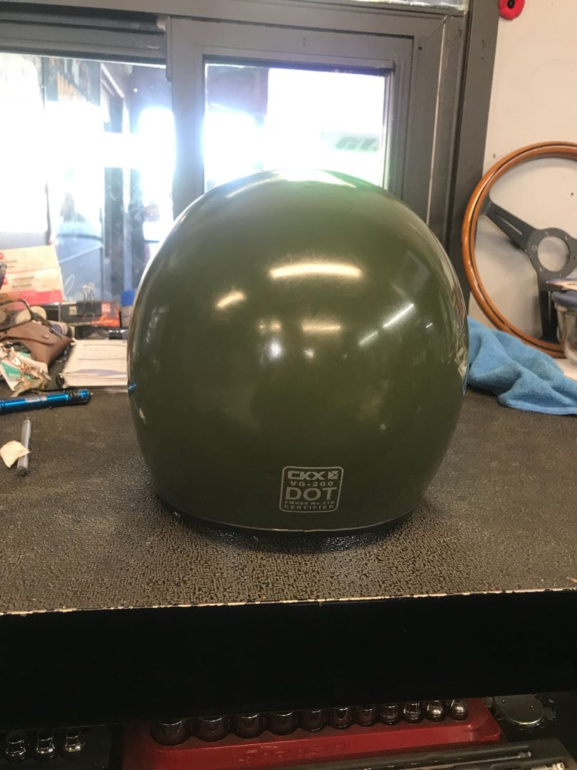 Motorcycle helmet size small army green