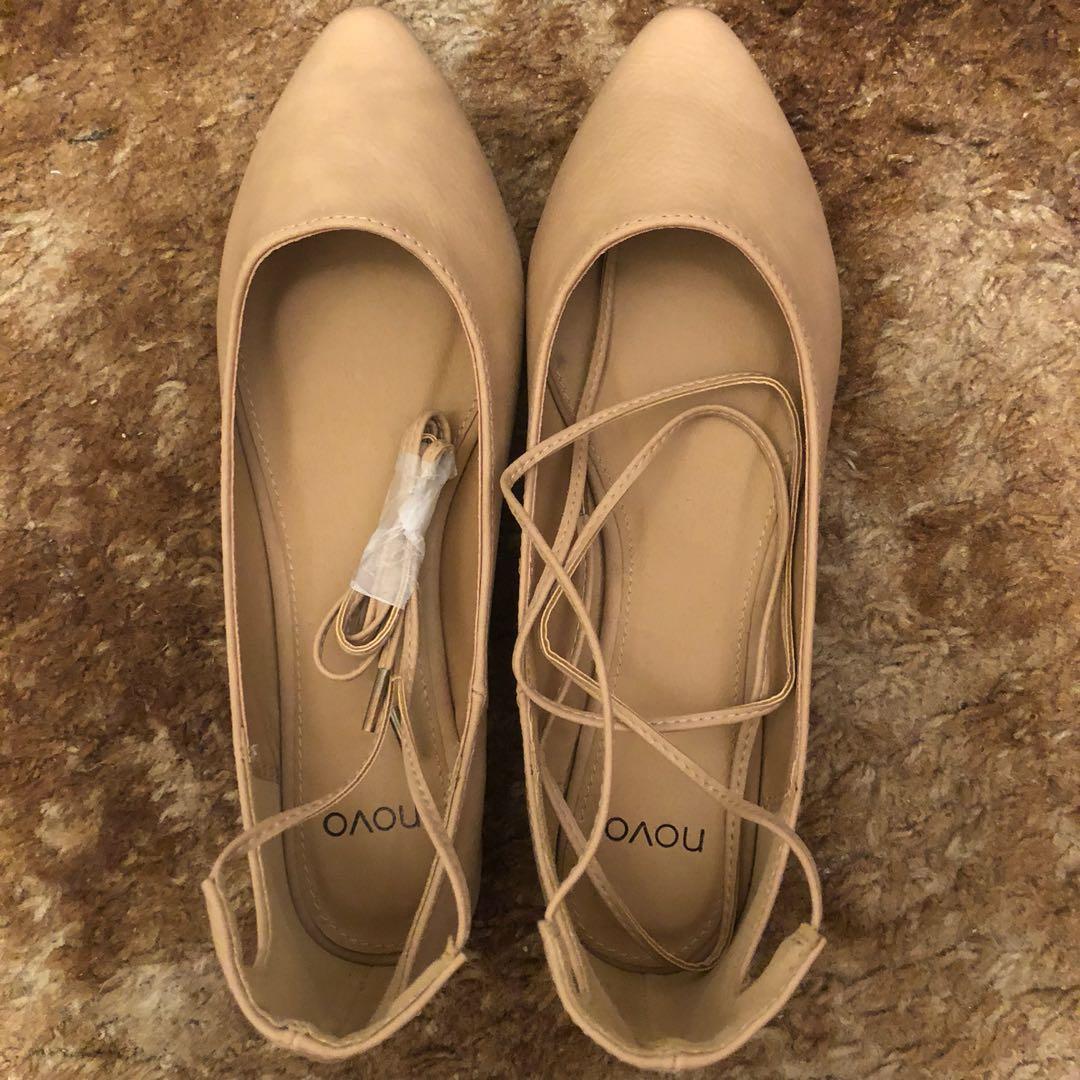 Novo - Kensington Tie Up Ballet Flats (Nude/Size 5)