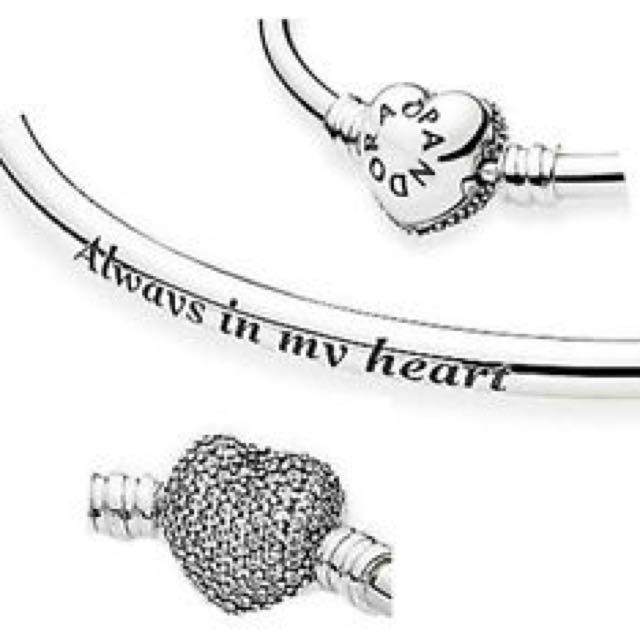5da0c18d3 Pandora 'Always In My Heart' Pave Bangle, Luxury on Carousell