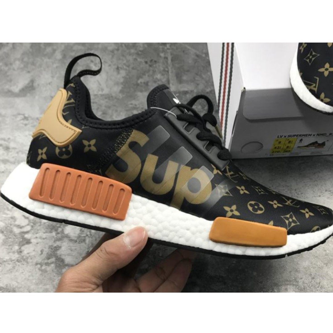 b05787068 PO SHOES  Adidas NMD R1 Boost X LV X SUPREME Black