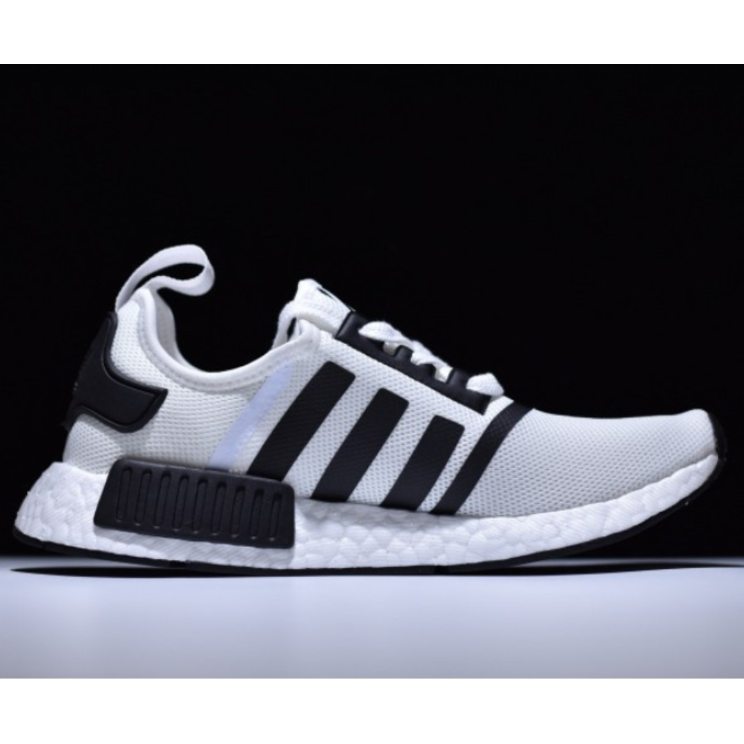 PO SHOES] Adidas NMD R1 Boost X OFF WHITE White, Men's