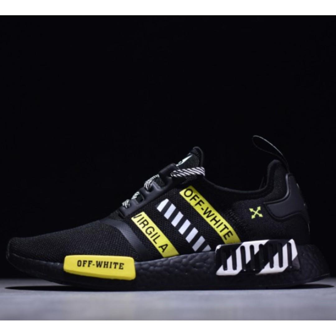 8c3ecbf91ef PO SHOES] Adidas NMD R1 Boost X OFF WHITE Black, Men's Fashion ...