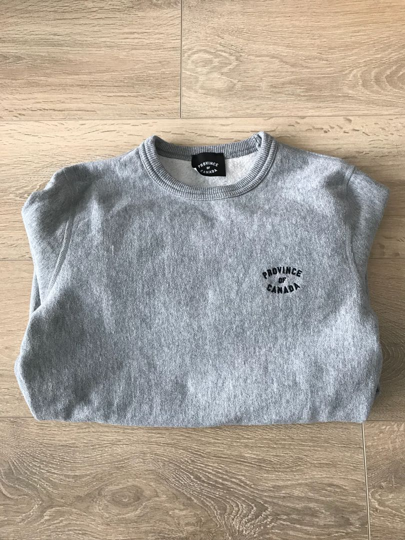 Province of Canada Crewneck Sweater in Heather Grey