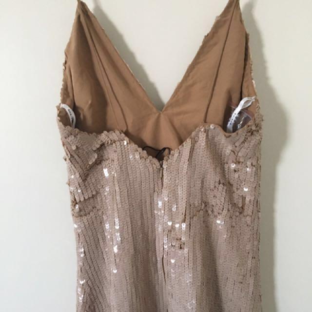 Sequin Dress Nude