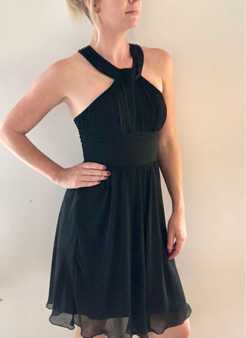 Sparkly sequin & chiffon party dress