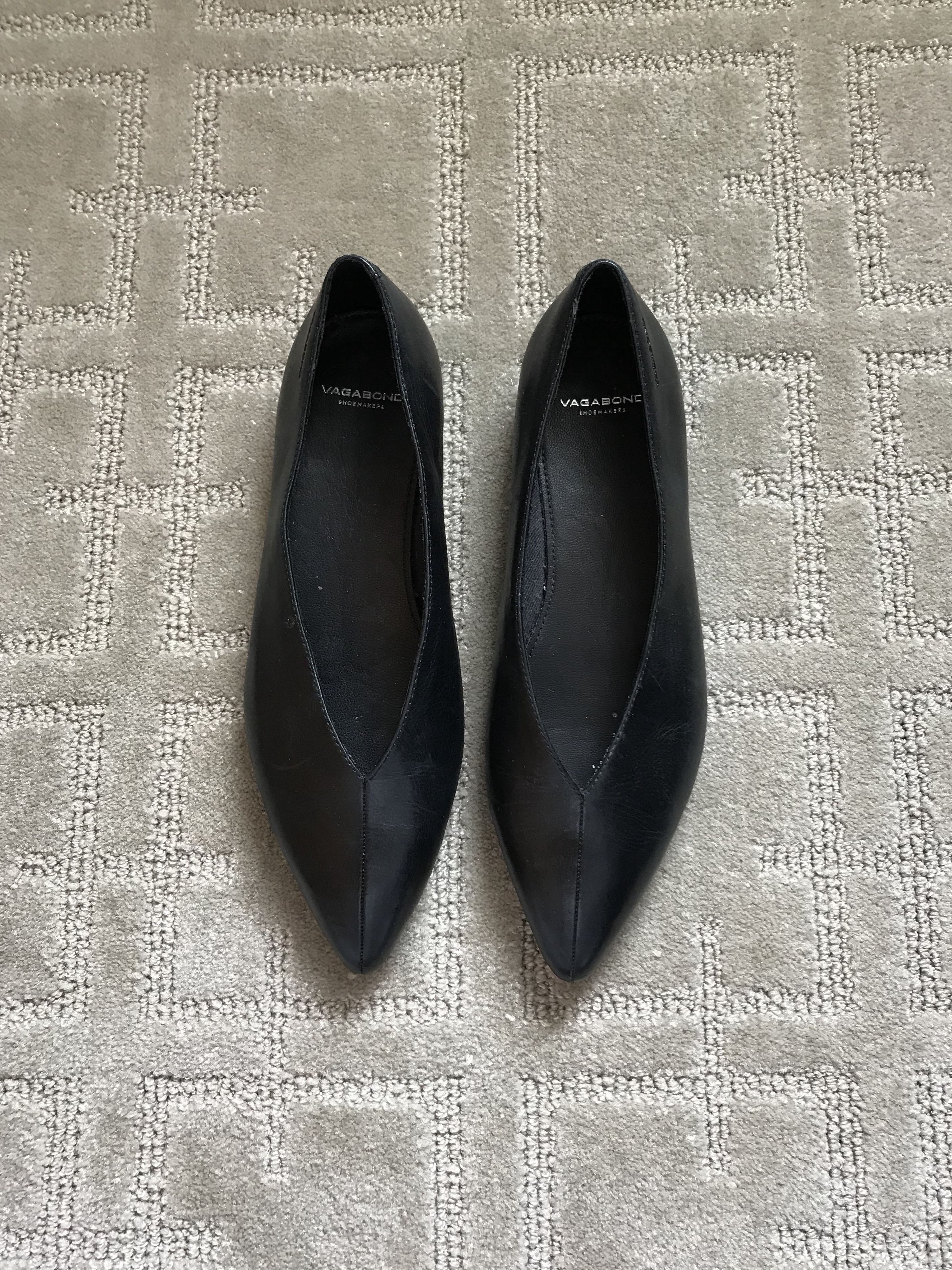 Vagabond leather pointy flats