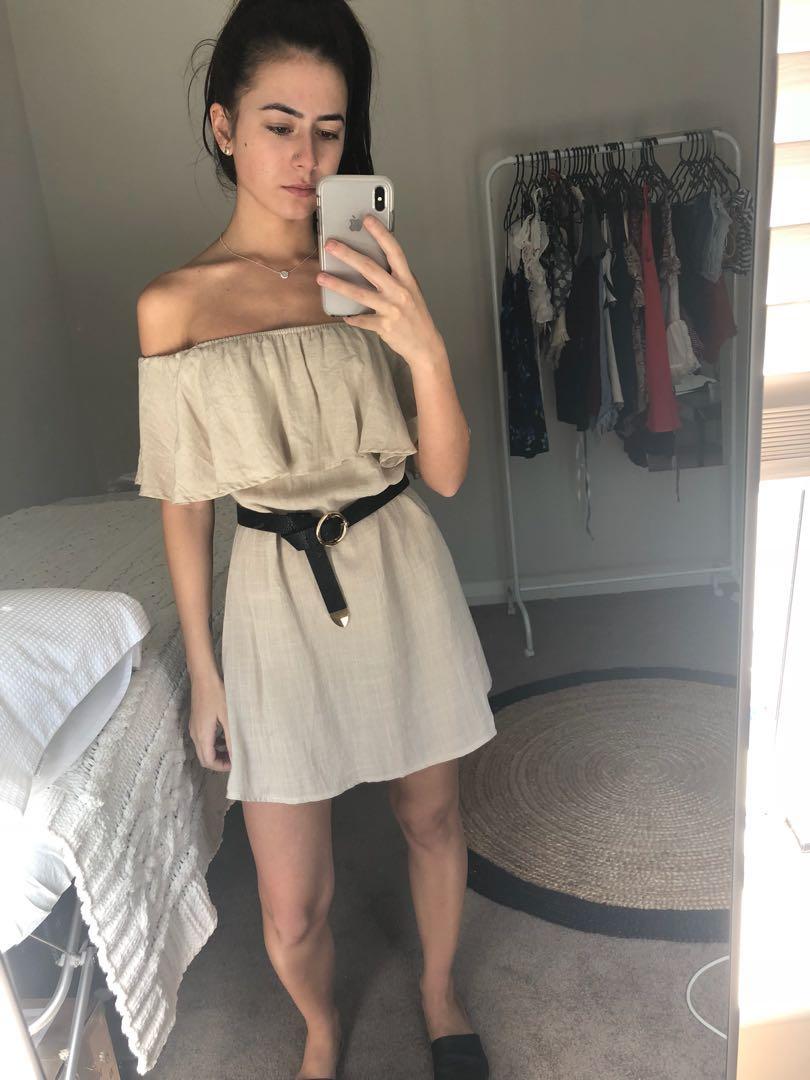 XS/6 Dress- Beige