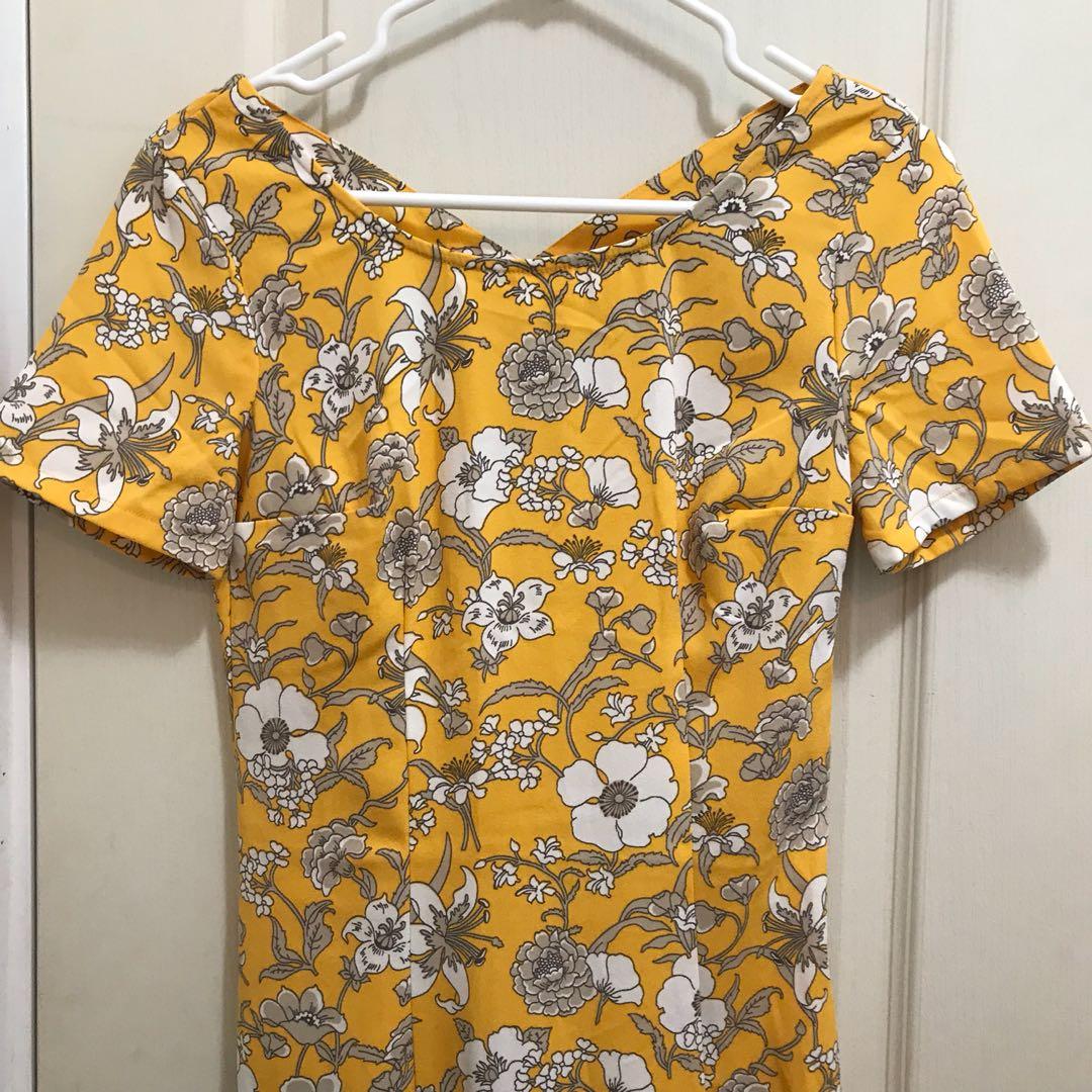 XS FLORAL SHIFT DRESS