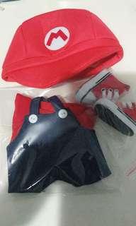 Mario 20cm doll clothes set