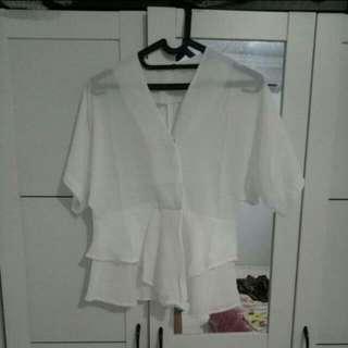 white blouse kimono
