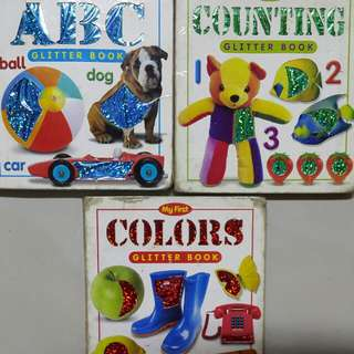 Glitter Books for Young Children (Counting, Colours, ABC)