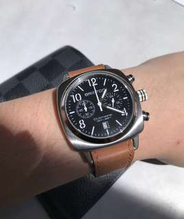 Jam Tangan Pria Briston Clubmaster Classic Steel Chronograph Black Dial 40mm (mirip panerai radiomir)