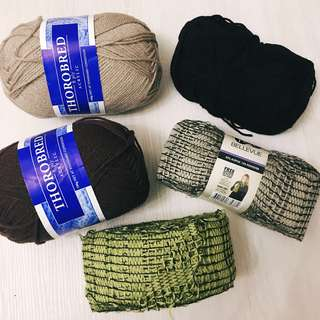 Bundle 8 Ply Knitting Wool Yarn