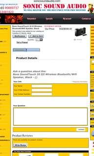 Bose SoundTouch 20 III Wireless Bluetooth/Wifi Speaker, Black