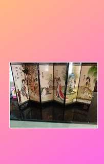 中國四大美女 小屏風,高23cm宽38cm