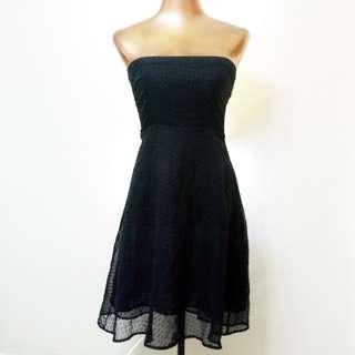 Black tube elegant dress