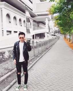 Leather Jacket, Black Matte (M)