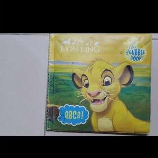 The Lion King Bath Time Bubble Book