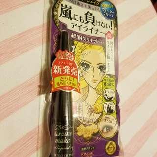 kiss me 眼線 eyeliner waterproof and oil proof