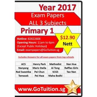 Primary 1 Top Schools Exam Papers Instant Download