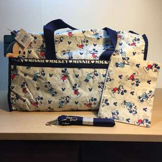 全新迪士尼米奇老鼠旅行袋/ Disney mickey mouse travel bag