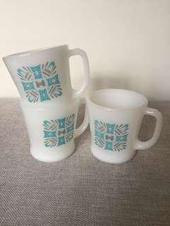 Fire King Milk Glass Mugs