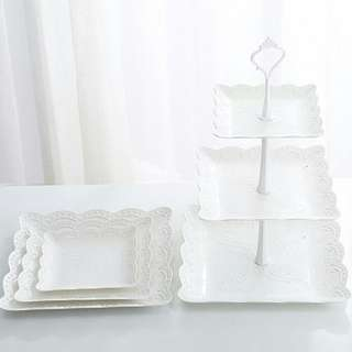 new design 3 tier cake stand