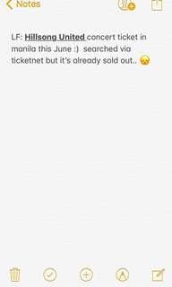 Hillsong united concert ticket in Manila