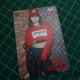 TWICE MOMO Yescard 小卡