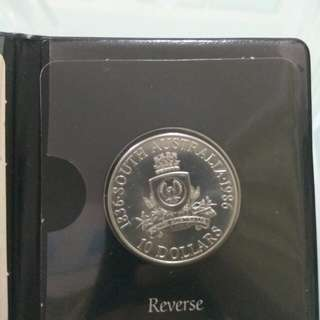 1986 Australia Silver 10 Dollars