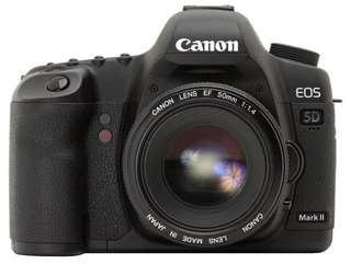 Canon 5D Mark II with handgrip