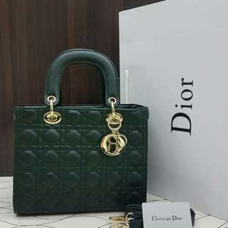 Lady Dior Emerald Green
