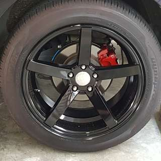 19inch rim + 1 week old Hankook Hankook Dynapro HP2 255/50/R19