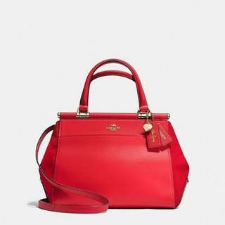 Coach Bag Refined calf leather and suede Handles