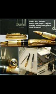 Authentic Diamond's Gold Dunhill Roller Pen (swap)