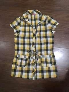 BNY Checkered Polo Top