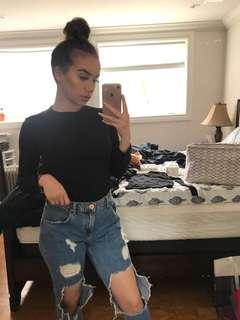 Black simple top