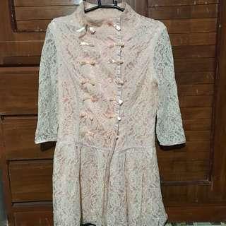 Pink Lacy Dress (Three-Fourths)