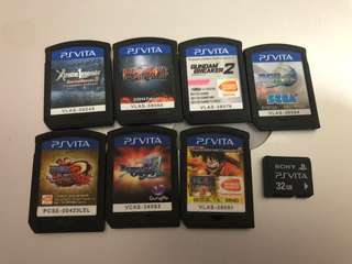 PS Vita (8 games, 32gb memory card, hardcasing)