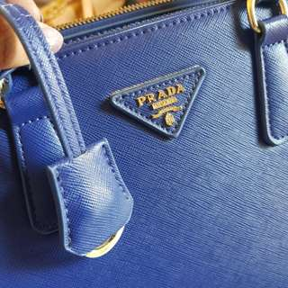 Prada Saffiano Medium Blue Electric