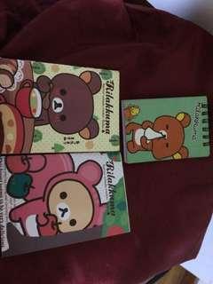 3 Rilakuma notebooks
