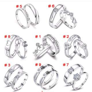Silver Plate 925 Couple Ring