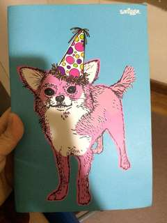 Party dog smiggle notebook