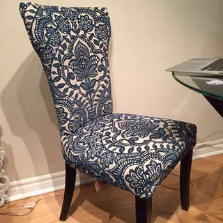 2 Pier One Upholstered Chairs