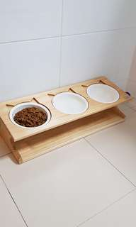 In stock BN pet cat / dogs elevated food bowls